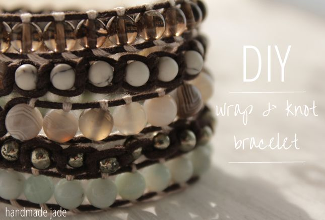 good step-by-step photographs for wrapping & knotting | DIY Wrap & Knot Bracelet | Handmade Jade
