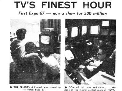 Expo 67: Satellite TV makes history – Television.AU