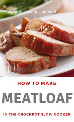 It's super easy to make fool-proof meatloaf in the crockpot slow cooker. You will get moist, delicious meatloaf every time! This gluten free recipe is from the ayearofslowcooking website. I only make meatloaf this way now!