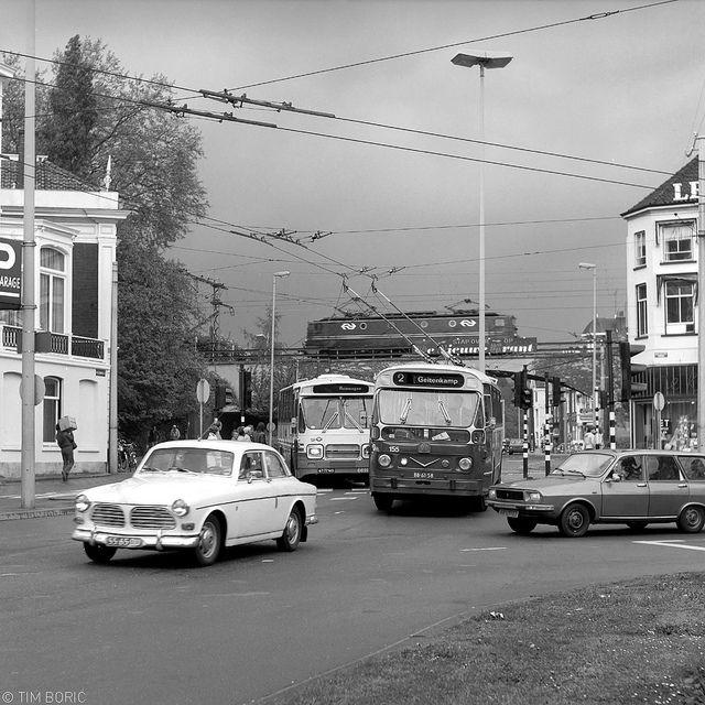 Arnhems verkeer in 1970.