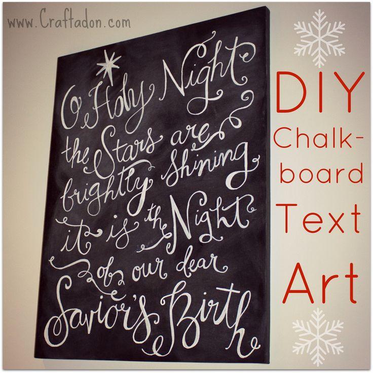 DIY Chalkboard Text Art