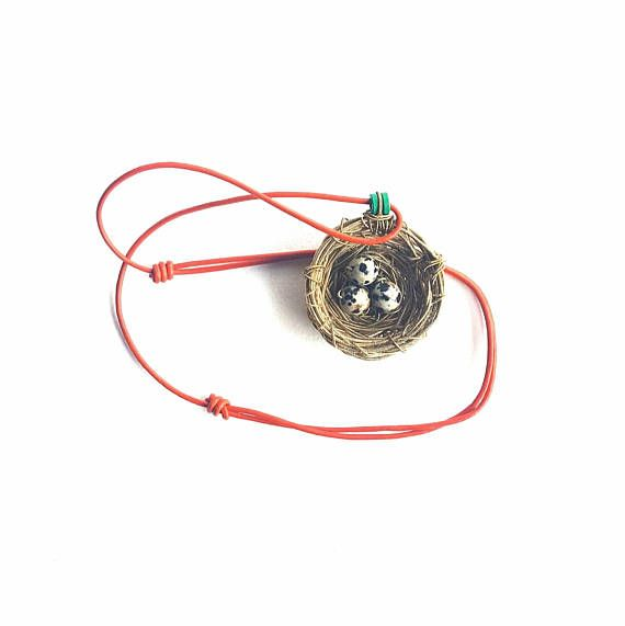 Check out this item in my Etsy shop https://www.etsy.com/au/listing/574992889/guitar-string-necklace-birds-nest