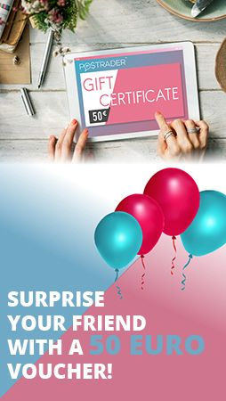 Sign up to Postrader and surprise your friend with a 50 EUR voucher! https://postrader.co.uk/sign-up