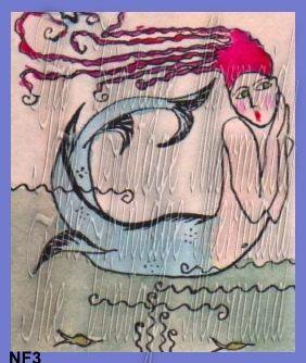 Mermaid Craft Fabric Panel Quilting Fat by mermaidfabricshop