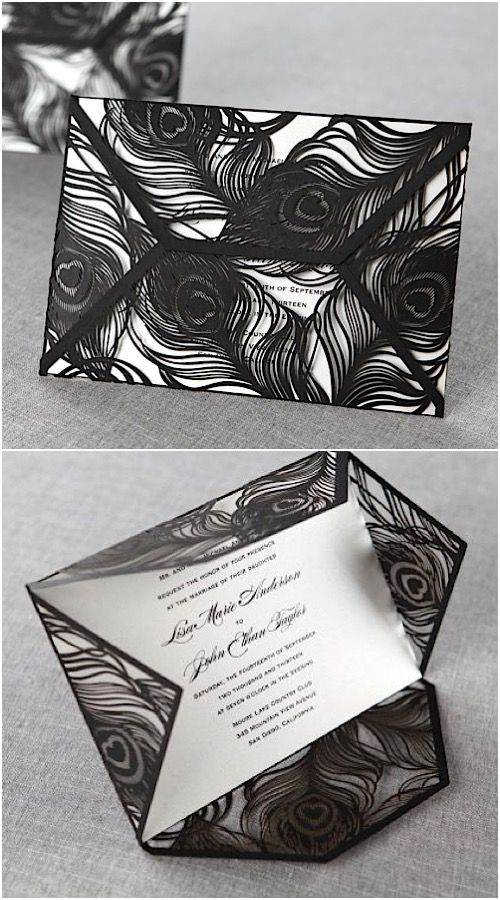 Mystic Forest Laser Cut Wedding Invitation Set By B Wedding Invitations.