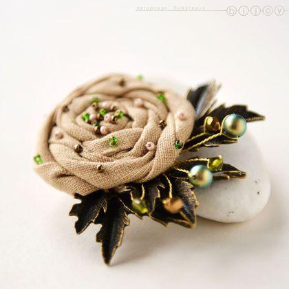 Брошь цветок «Лесная роза». Купить брошь цветок. Купить брошь розу. Ольга Кугаевская  Bijoy. Ярмарка Мастеров.