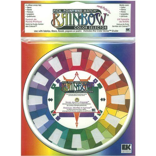 These handy color wheels help pick the perfect color combinations every time. For crafts quilts needlework knit crochet weaving spinning