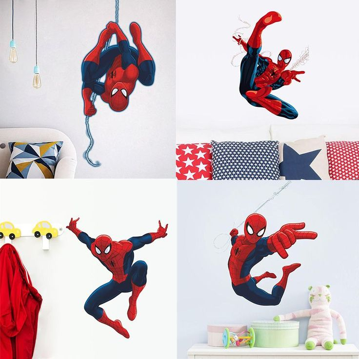 Spiderman Bedroom Wall Sticker //Price: $6.24 & FREE Shipping //     #housedecoration