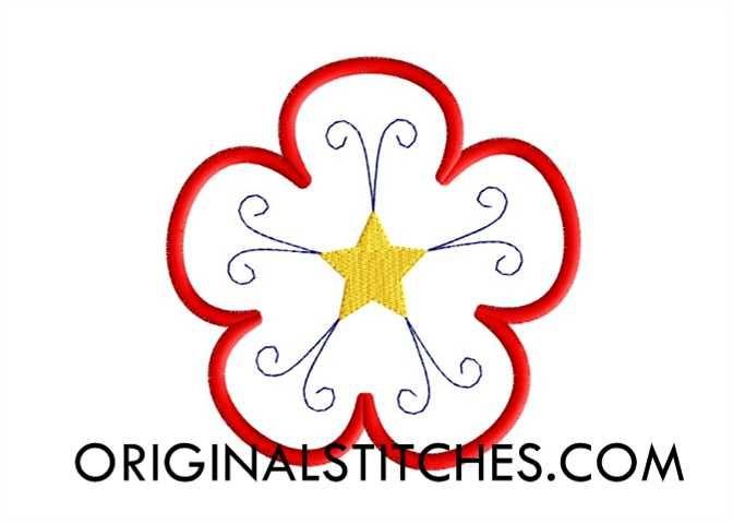 Flower Star, Original Stitches