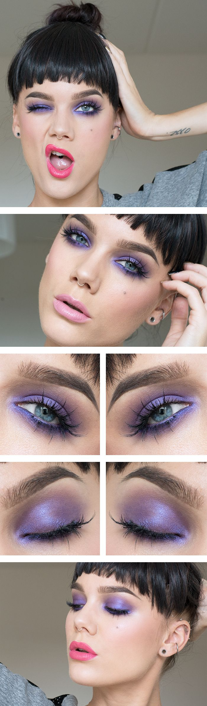 Pretty Violet fun! Check out this gorgeous make up of the day #popofcolour