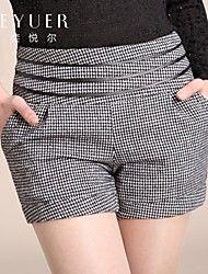 Dambyxor  ( Bomullsblandning ) Shorts  -  Mellan  -  Mikro-elastiskt