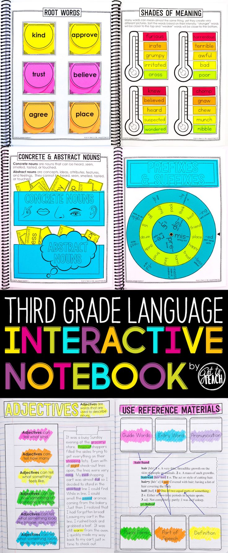 Third Grade Language Interactive Notebook.  Cover all 3rd Common Core Language standards in an engaging and memorable way.  $