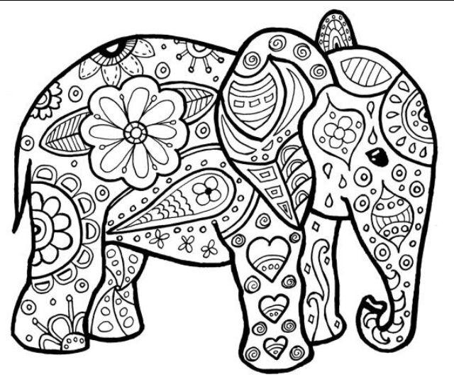 Pin By Cindy Darby On Mandalas Elephant Coloring Page Mandala Coloring Pages Animal Coloring Pages