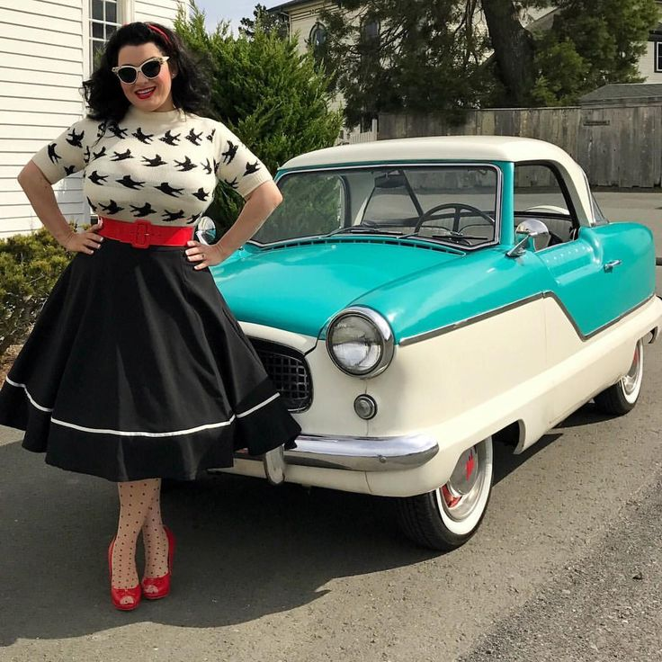 See this Instagram photo by @crazy4me • Model Yasmina Greco and her 1956 Nash Metropolitan