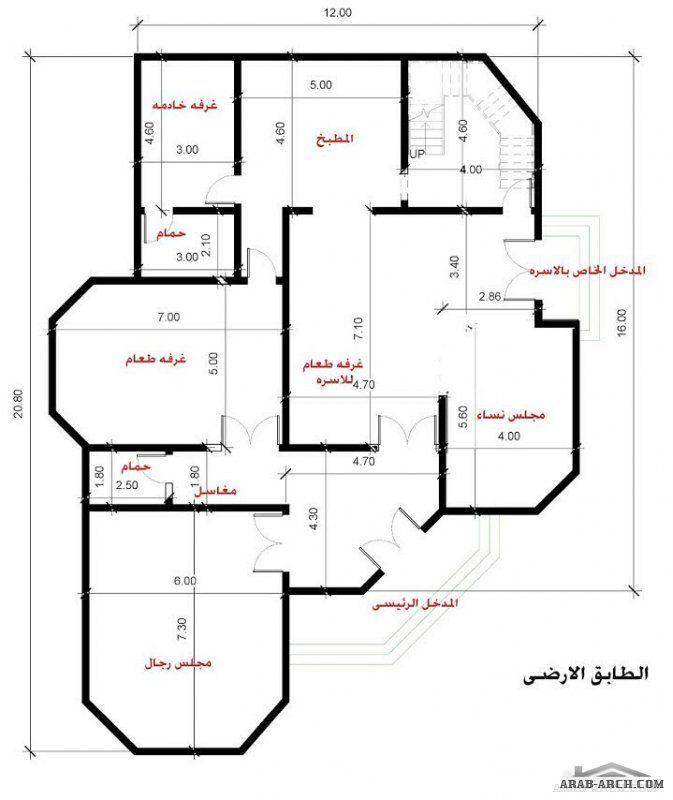 فيلا المدينة المنورة تصميم خاص لاحد العملاء Basement House Plans My House Plans Family House Plans