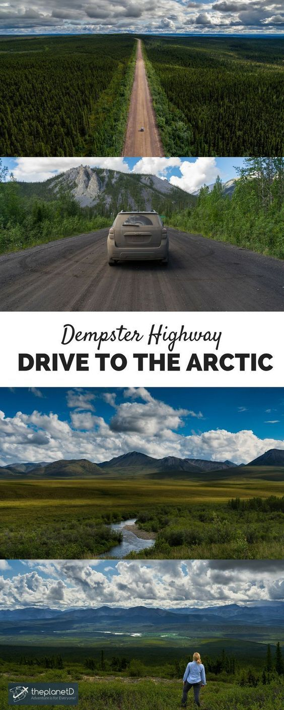 Did you know you can actually drive to the Arctic? – Yes you Can! On the Dempster Highway: 736 km road from the far Arctic in Inuvik in the Northwest Territories, to Dawson City in the Yukon, Canada