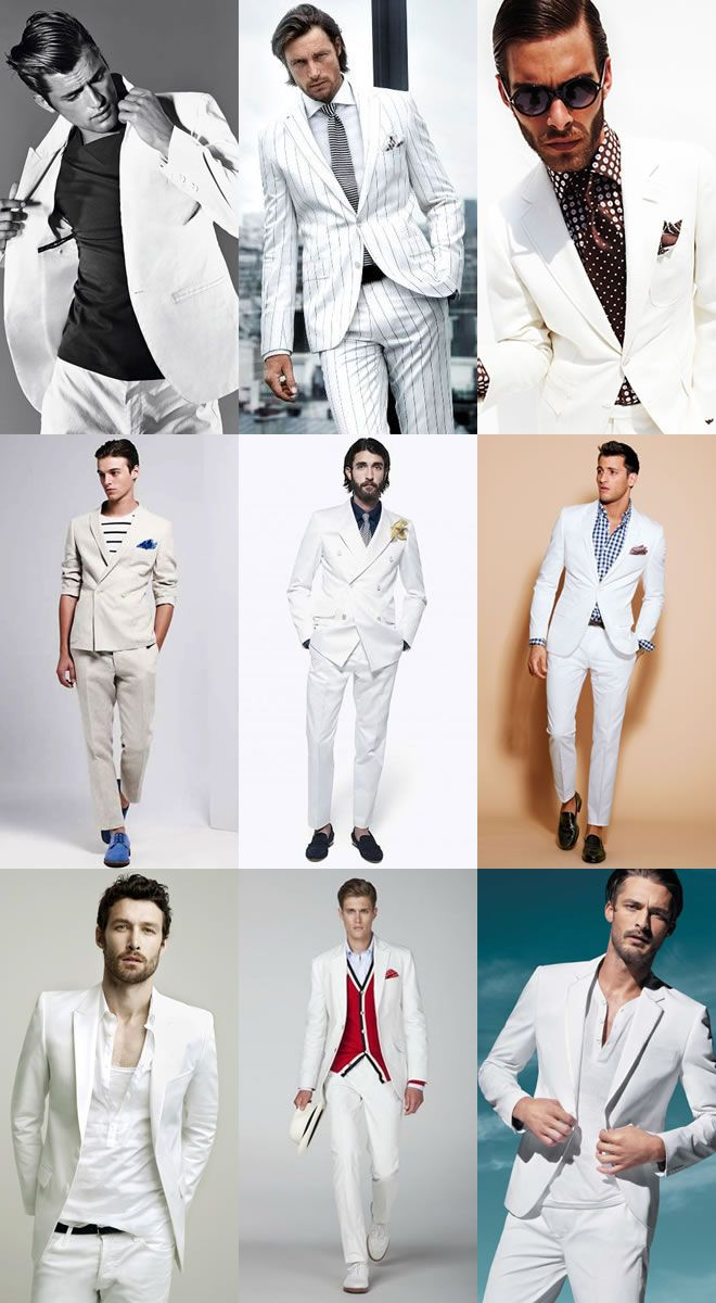 With the now horrifically out-dated examples of John Travolta in Saturday Night Fever and Al Pacino in Scarface, white suits at the forefront of many minds are a style sin. Description from theflycandypostdotcom.wordpress.com. I searched for this on bing.com/images
