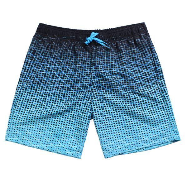 Azul Casual Secado Rápido Impresión transpirable Deporte suelto Playa Pantalones cortos para hombres