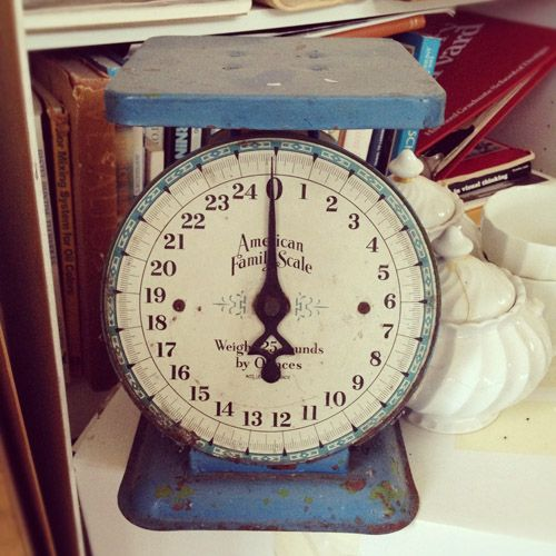 vintage food scale, loving the details here