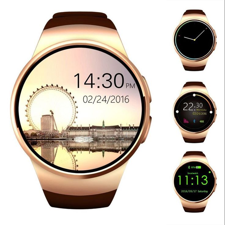 AWOW Bluetooth Smart Watch 1.3 inches IPS Round Touch Screen Water Resistant Smartwatch Phone with SIM Card Slot Sleep Monitor Heart Rate Monitor and Pedometer for IOS and Android Device Gold. A complete with a multitude of apps like calculator, pedometer, alarm clocks, sleep monitor, music player, camera, calendar, push notification, remote control. As a functional smart watch, the device can connect to your phone via Bluetooth and can be used to answer calls, respond to texts, set…