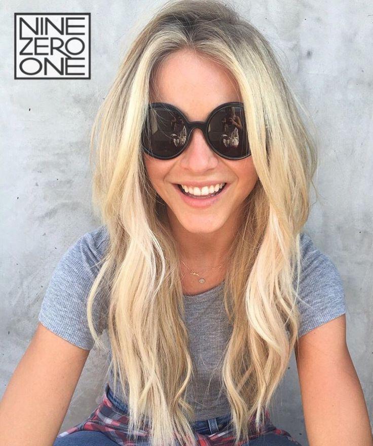 Long bright blonde for Julianne Hough by #901artist Riawna Capri! #JulianneHough…