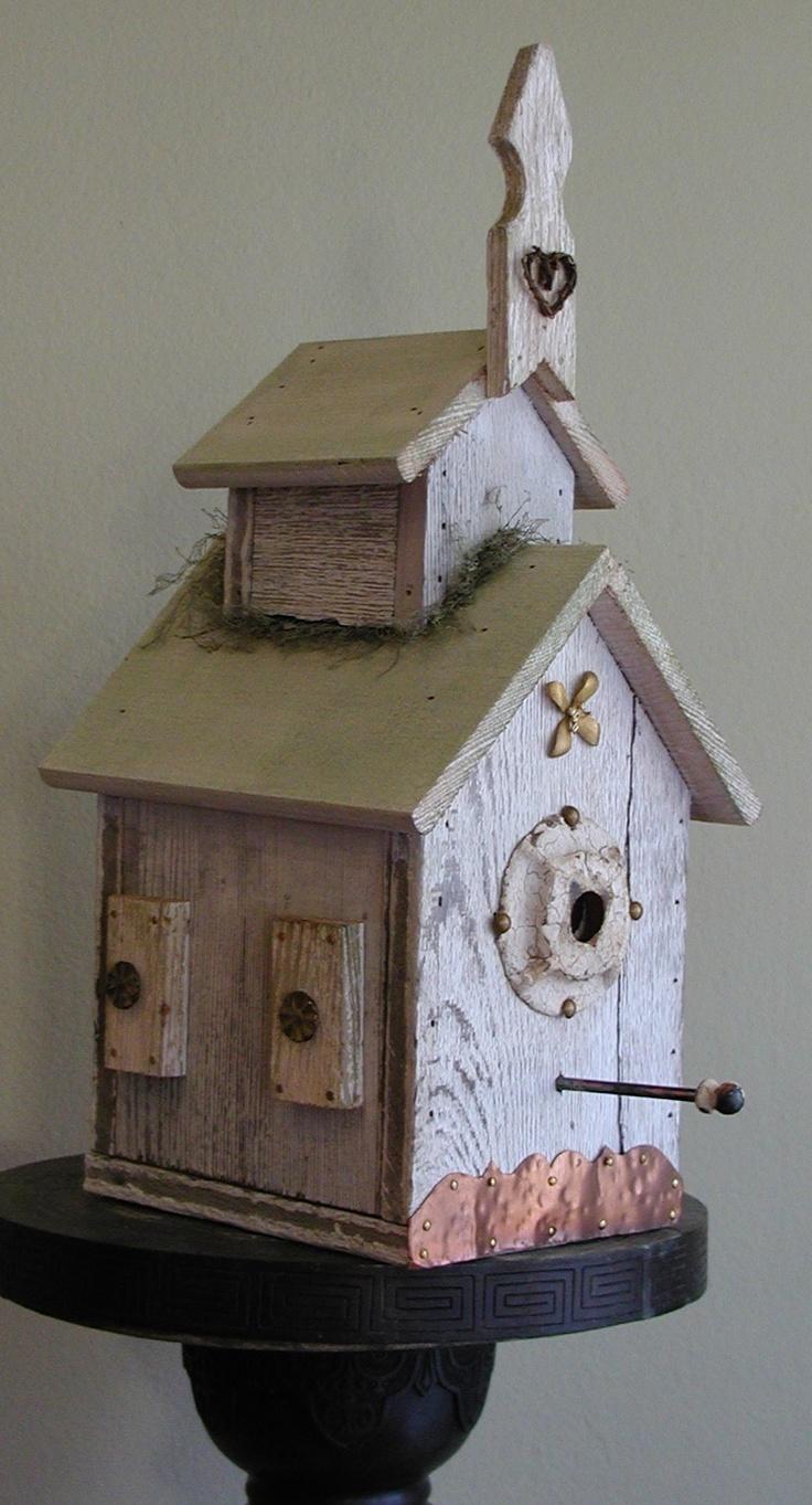 Rustic Birdhouses 25 Best Church Birdhouses Images On Pinterest