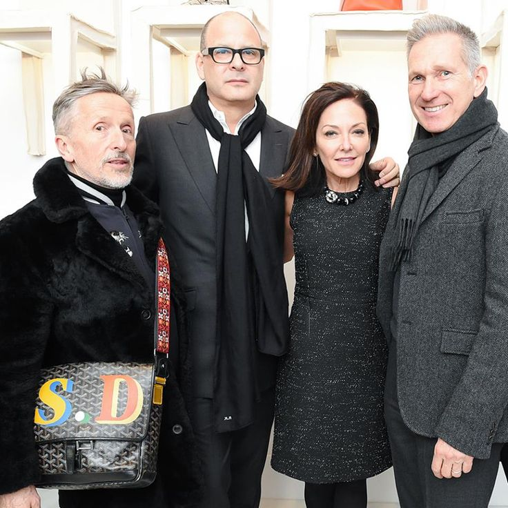 From Left: Simon Doonan, Reed, Margaret Russell, And