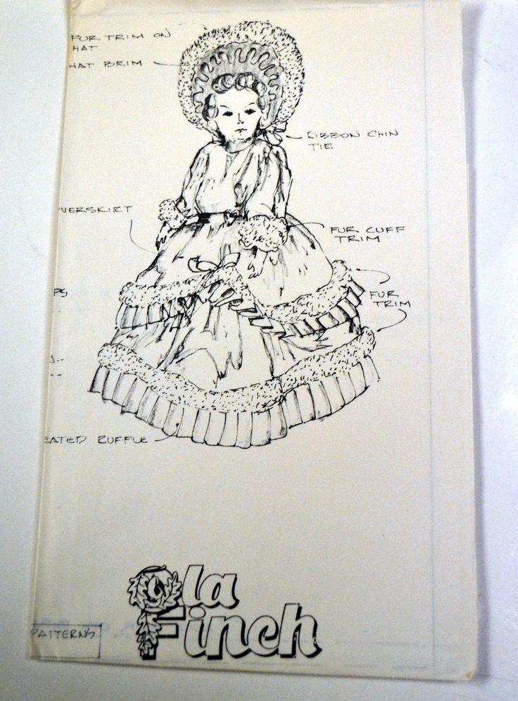 Vintage Ola Finch Touch of Velvet Doll Dress No. 01004 Sewing Pattern Complete Uncut 20 inch Doll by GoofingOffSewing on Etsy