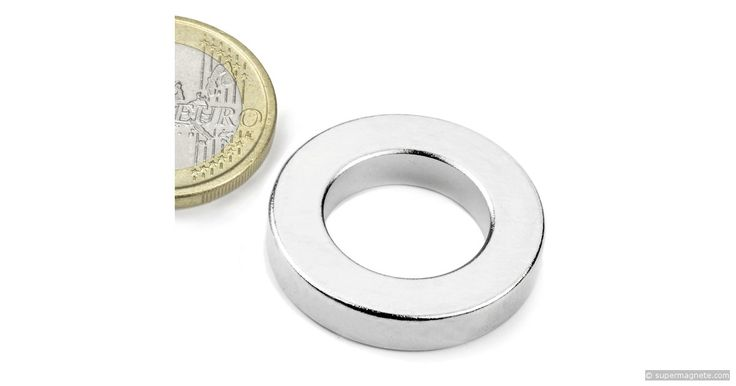R-27-16-05-N: Ring magnet Ø26,75/16mm, height5mm(Neodymium Magnets)