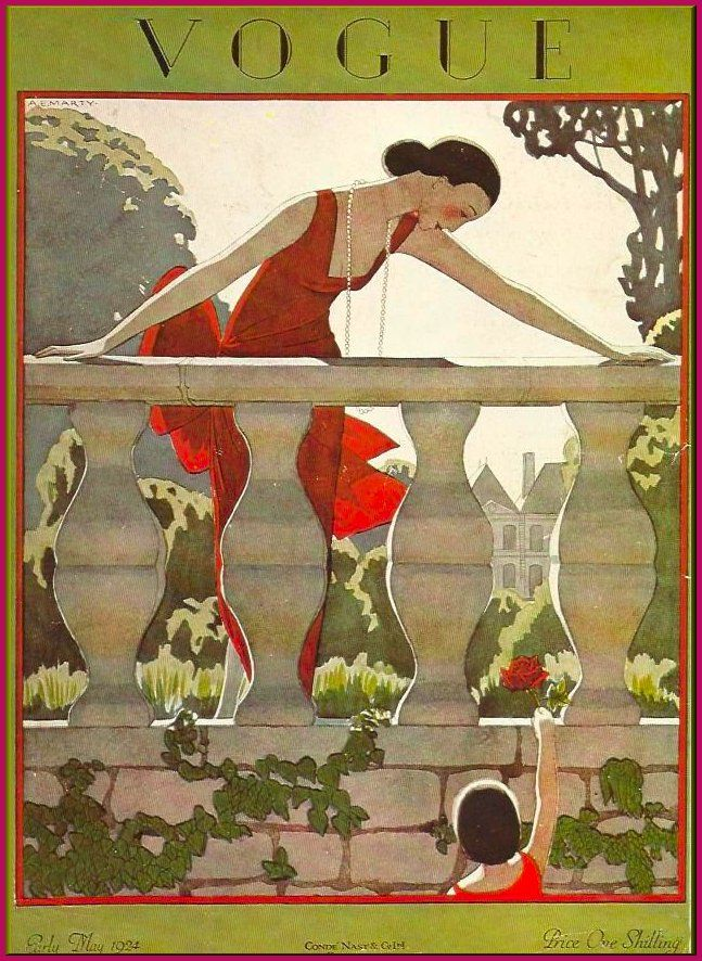 — whisters: May 1924 Vogue Cover by A. E. Marty....