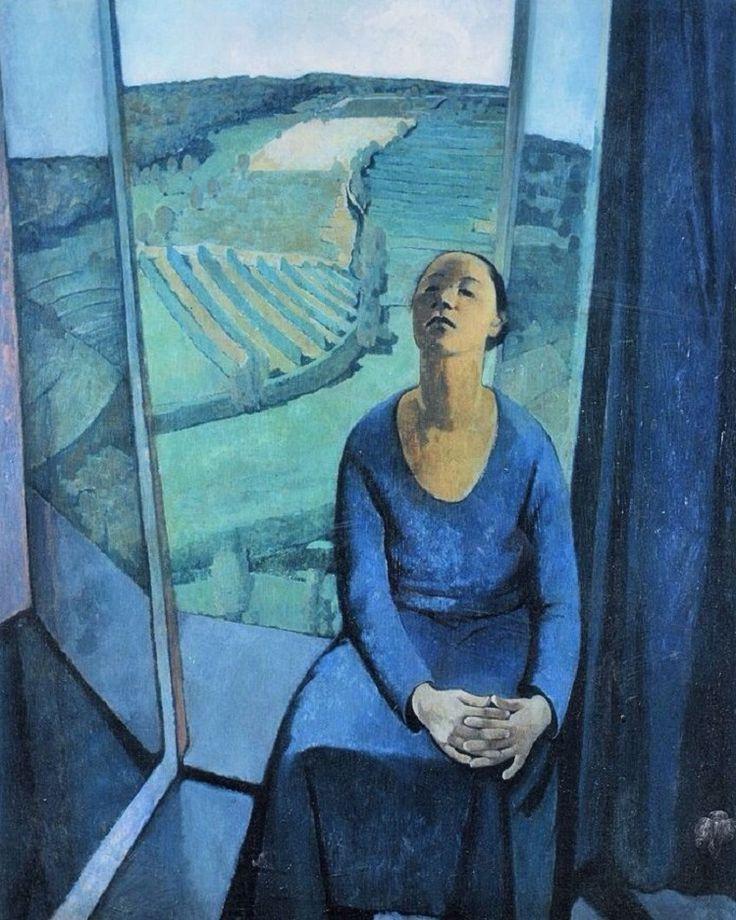 Felice Casorati「Daphne a Pavarolo」(1934)