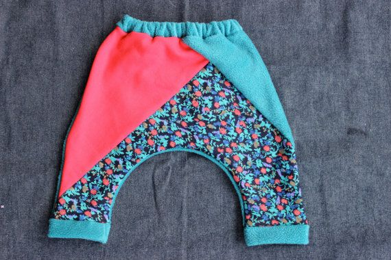 Funky Fleece Trackies by wildtribe on Etsy, $25.00