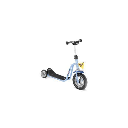 Puky Roller R1 ocean blue by Puky. $80.99. Scooter:Type: ScooterMaterial Step: plasticCoating Step: non slip plasticSteering mode: over steererBuild Steering: ScooterBuild : foam rubber frameScooter Accessories:Number of Wheels / Castors Front: 1Number of Wheels / Castors Rear: 2Bearing: bearingHandlebar Grip: safety gripScooter Size:Recommended Body Size: 90 cmRecommended Age: 2 yearsMax Capacity: 3.2 approx. kg