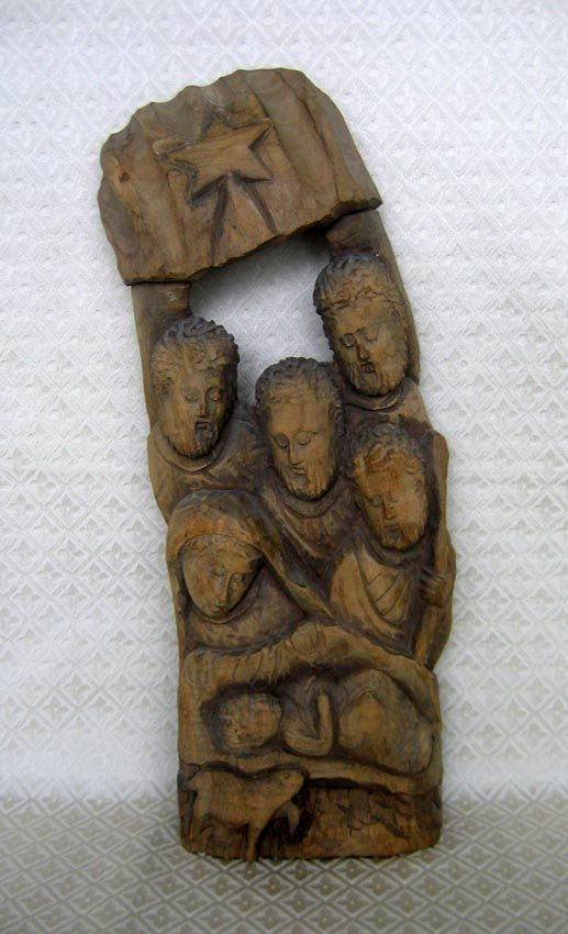 Carved Ornaments Hard Christmas Wood