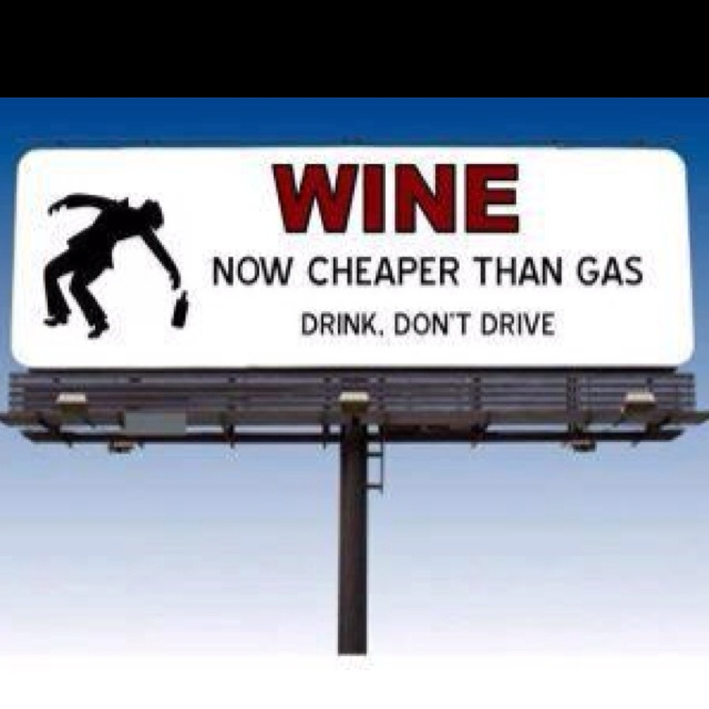 Here's an idea on how to beat rising gasoline prices: Wine, Laughing, Quote, Giggl, Truths, Funny Stuff, So True, Drinks, True Stories