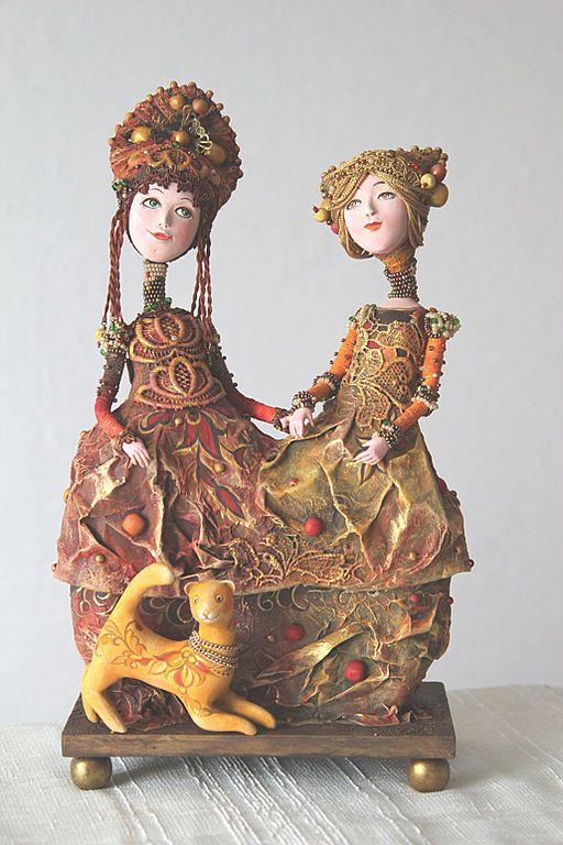 """Купить Кукла-шкатулка """"Подруги"""" - авторская кукла, коллекционная кукла, оригинальный подарок, авторская шкатулка"""