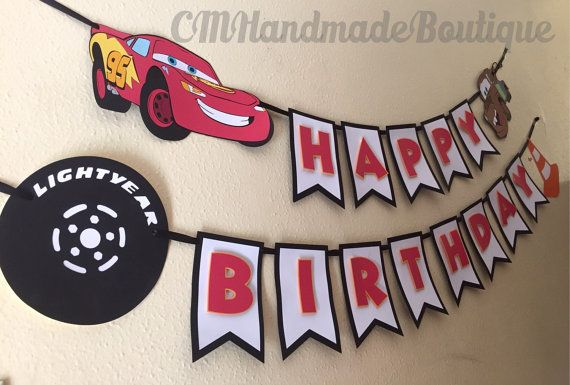 Disney Pixar Cars Banner by CMHandmadeBoutique on Etsy