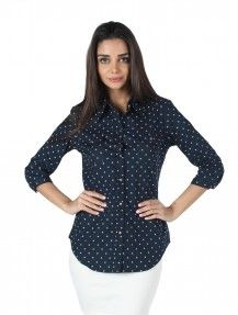 MOJO Cotton Shirt IN Blue  Rs. 1,499