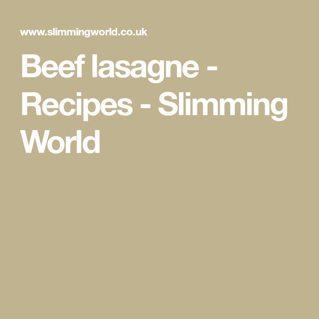 Beef lasagne - Recipes - Slimming World
