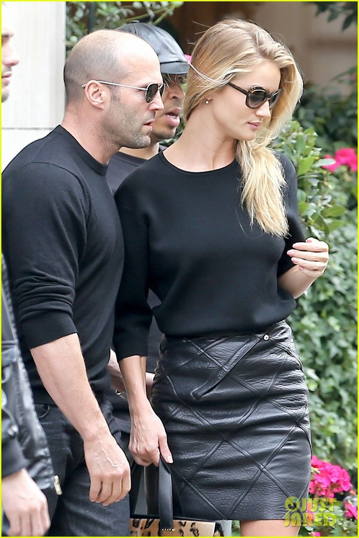 Rosie Huntington-Whiteley & Jason Statham in Paris