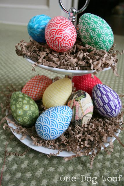 Fabric Wrapped Easter Eggs   One Dog Woof   #holiday