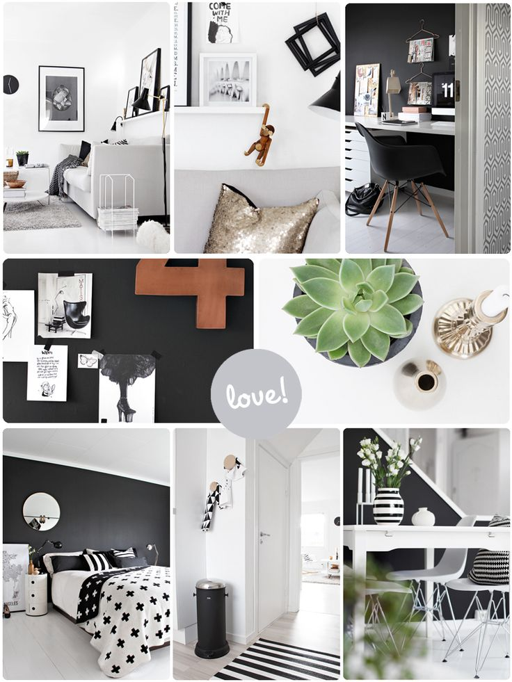 Black and White Home Decor : Made From Scratch