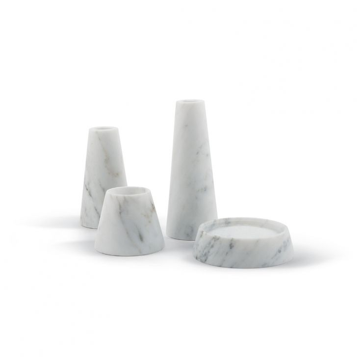 Decospot | Candlesticks & Lanterns | Atipico Tellus Carrara. Available at decospot.be webshop.