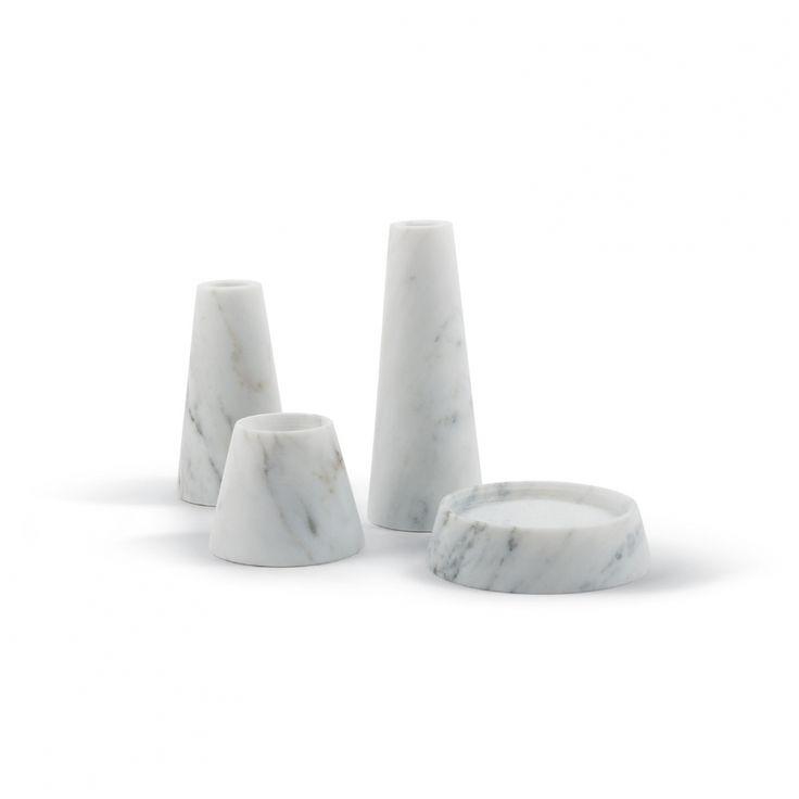 Decospot | Candlesticks & Lanterns | Atipico Tellus Carrara. Available at decospot.be webshop.