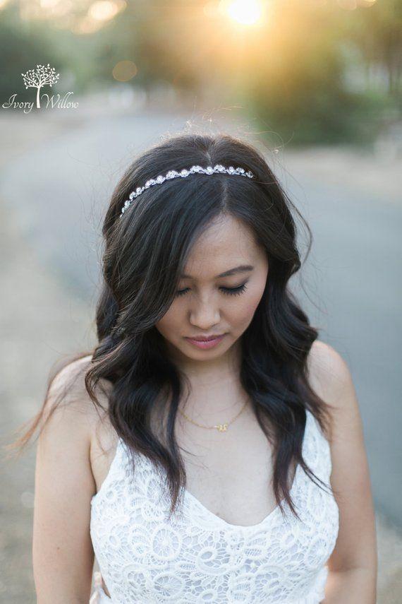 Crystal Wedding Headband - Bridal Headband - Flower Girl Headband -  Bridesmaid Headband - Prom Head eea3056ab13