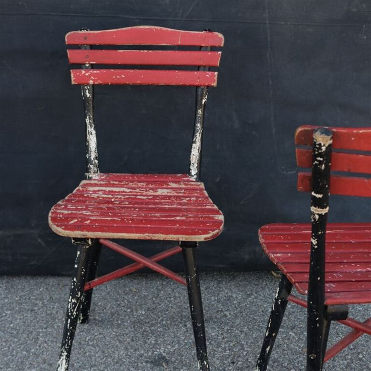 Picture of Red Vintage Thonet Desk Chair