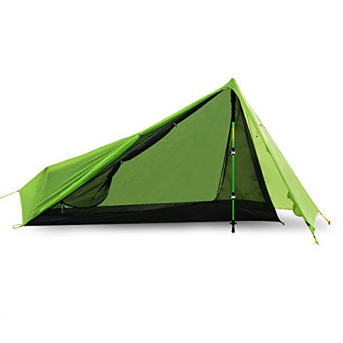 Andake Ultralight Tent Waterproof 1 Person Camping TentBackpacking Tent DoubleSided SiliconeCoated 15D Nylon Ripstop Fabric with Carry Bag Compact and Portable for Climbing Hiking and Travel -- Read more reviews of the product by visiting the link on the image.
