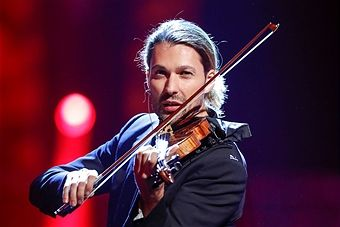 German violinist David Garrett during the tv show 'Willkommen bei Carmen Nebel' at Velodrom on October 1, 2016 in Berlin, Germany.