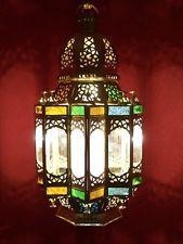 Brass Moroccan Oriental Arabian Pendant Ceiling Light Lamp Lighting Morocco
