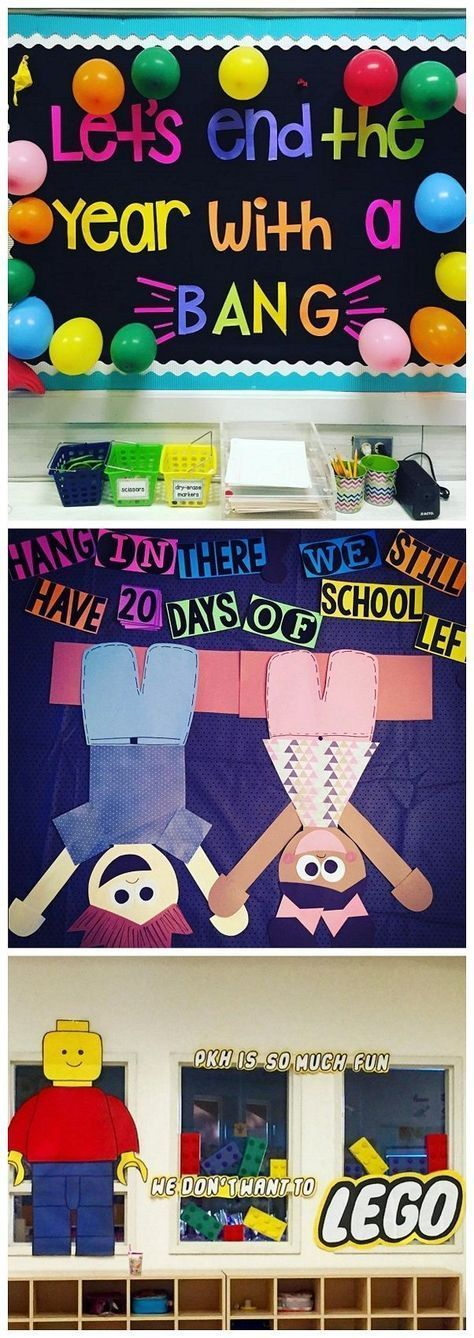 End of the school year bulletin board ideas - so fun for a countdown to summer!